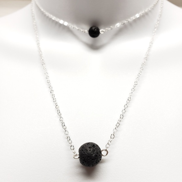 Jewelry - Double Lava Stone Aromatherapy Diffuser Necklace